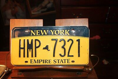 2010 New York Empire State License Plate HMP 7321