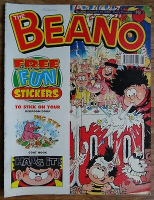 BEANO SPECIAL - 3000th EDITION. INCLUDES FREE GIFT FUN STICKERS.