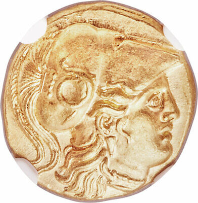 ALEXANDER III the GREAT 336-323 BC Gold **NGC MS 5/5-4/5** Greek Stater coin