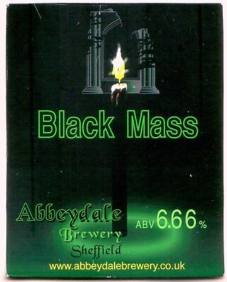 Abbeydale Brewery - Beer Pump Clip - Black Mass