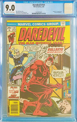 Daredevil #131 CGC 9.0 Marvel 1976 Origin / 1st Appearance of Bullseye