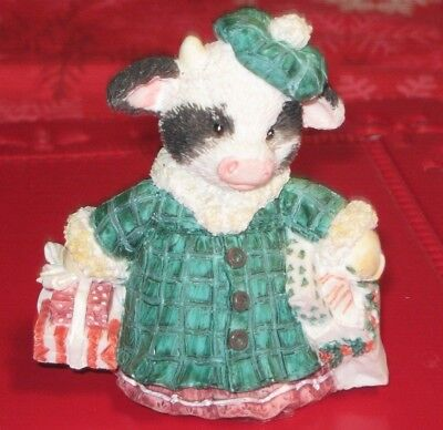 """1994 Mary's Moo Moos """"Shop Till the Cow's Come Home"""" 3 1/2"""" Sculpture"""