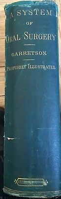 Dr. James Garretson-father of Oral Surgery- SIGNED- rare dentistry treatise-1873
