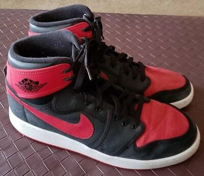 promo code fe6e8 f55fe NIKE AIR JORDAN AJKO Retro KO HI Bred AJ1 Black Red 638471 101 Men's US  Size 12