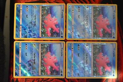 x4 Corsola 36//149 Uncommon Reverse Holo Pokemon SM1 Sun /& Moon Base M//NM E