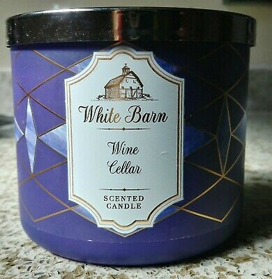 Bath /& Body Works WINE CELLAR Scented Large 3-Wick Candle 14.5 oz White Barn