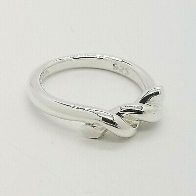 vintage tiffany & co. 925 sterling silver twist knot rope ring size 6