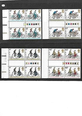 1978 SG1067-SG1070 Cycling Blocks of 4 with Traffic Light Gutters & margins UMM