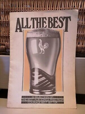 All the best pub songs in a book from COURAGE Brewery Best Bitter. Vintage.