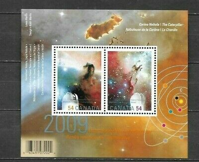 pk41658:Stamps-Canada #2323c Year of Astronomy 2 x 54 cent Souvenir Sheet-MNH
