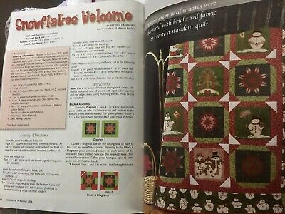 Snowflakes Welcome Panel QUILT KIT Bundle w/Magazine and Fabric.