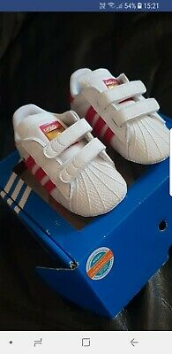 cheap for discount c2ca9 e208a Adidas Originals Superstar Crib Shoes Baby Infant Girls Trainers - S79917