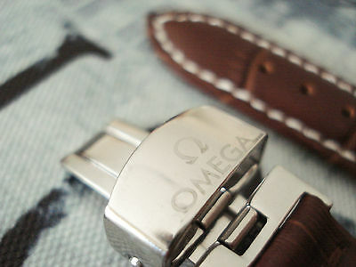 NEW WATCH STRAP Genuine Leather 18 mm OMEGA Brown SEAMASTER SPEEDMASTER + GIFT
