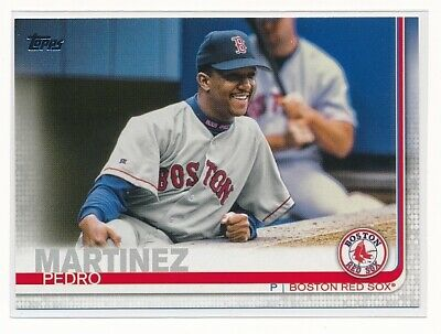 PEDRO MARTINEZ 2019 Topps Series 1 SHORT PRINT SSP PHOTO Variation RED SOX #344