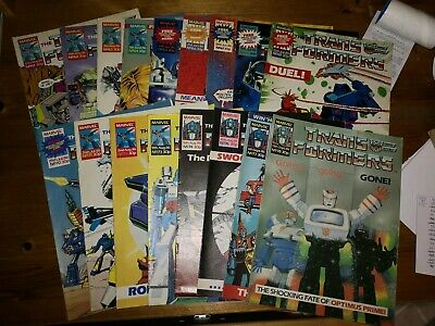 17 Issues of Marvel G1 Transformers UK Comic - See Description for Issue Numbers