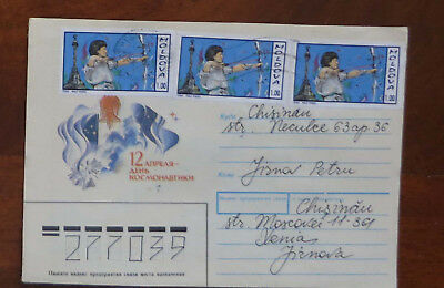 Moldova - Cover with Three 1.00r Olympic Stamps