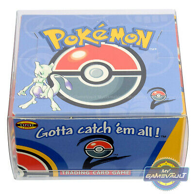 1 DISPLAY CASE for Pokemon Cards Booster Box STRONG 0.5mm Plastic Box Protector