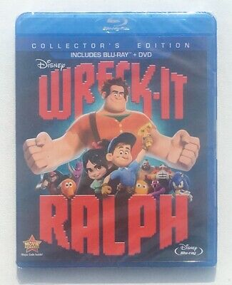 Wreck-It Ralph (2012) Blu Ray / DVD Collector's Edition Factory Sealed Brand New