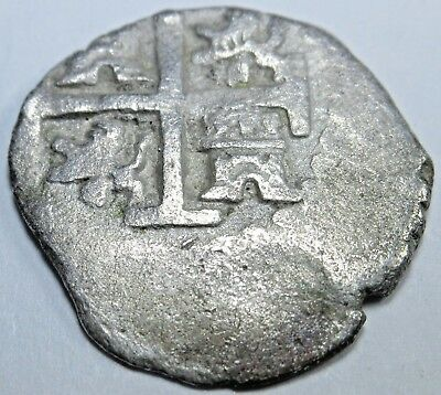 1706 Spanish Silver 1/2 Reales Piece of 8 Real Colonial Pirate Treasure Cob Coin
