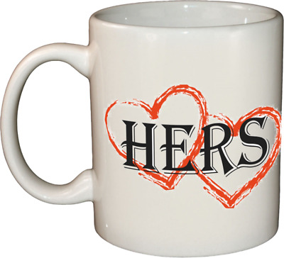 Personalised HEART MUG / CUP   His Hers Yours Mine   Anniversary gift