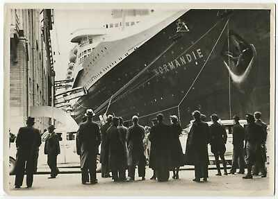 Eric SHAAL: SS Normandie, France, 1935/ TIME-LIFE/ PIX Agency / VINTAGE/ STAMPED