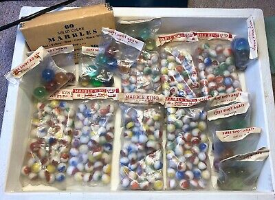 17 Original Poly Bags MK Vitro And 1 Box Of Berry Pink Marbles! * Vintage