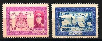 1956 National Boy Scout Jamboree Sc#1052-1053 Mint Lightly Hinged Value $50