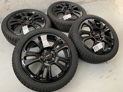 "Original Mini F55 F56 F57 17"" Alufelgen JCW Double Spoke 510 Winterräder RDC NEU"