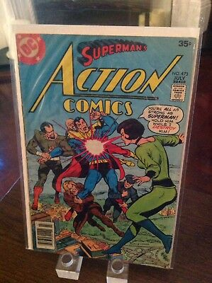"Action Comics Starring Superman 473 Vol 1 ""The Great Phantom Peril"" 1st Print"