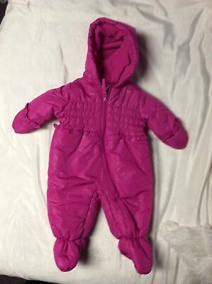eb8f02407 NEW! SNOZU INFANT Baby Girls  Fleece Lined Snowsuit Size 3-6 Months ...