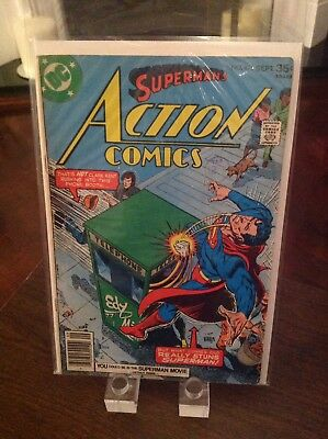 "Action Comics 475 Vol 1 ""The Super-Hero Who Refused To Hang Up His Boots"""
