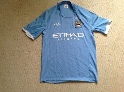 Manchester City Home 2011 FA Cup Final Special Edition Football Shirt Mens Large