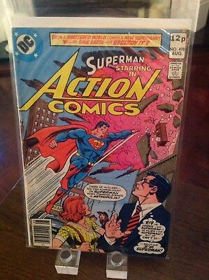 "Action Comics Starring Superman 498 Vol 1 ""The Catastrophic Man"" 1st Print"