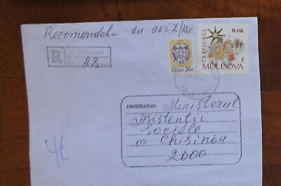 Moldova - 1997 Registered Cover with Stamps