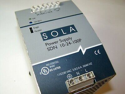 2Day Shipping! Sola SDN 10-24-100P DC Power Supply 24V - 28V Tested         (10)