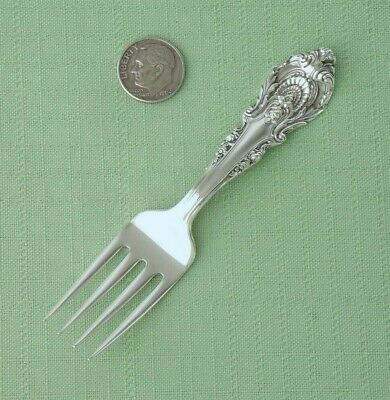 """Wallace Sterling Silver - Sir Christopher - Cute Baby Fork - 4 1/8"""" Long"""