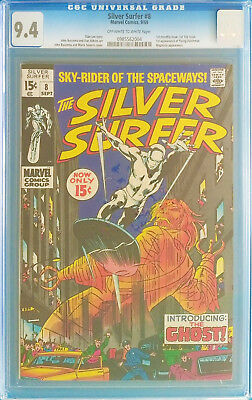 Silver Surfer #8 CGC 9.4    1st Flying Dutchman  Mephisto appearance 1969