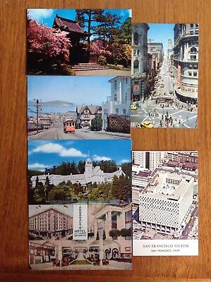 6 card lot~San Francisco CA~cable car~Alcatraz~Argonaut Hotel~Hilton~Claremont