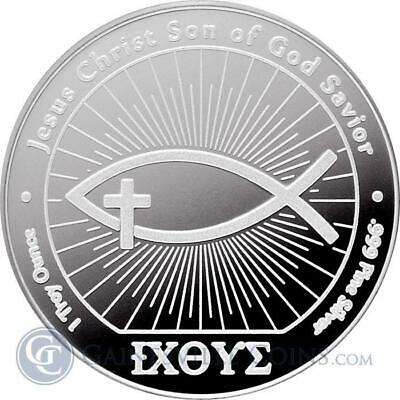 1 - 1 oz .999 Silver Round - Ichthus Silver Round - Uncirculated - New