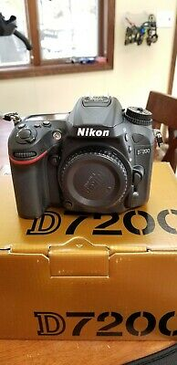 Nikon D7200 24.2 MP Digital SLR Camera - Black (Body Only) plus extras.