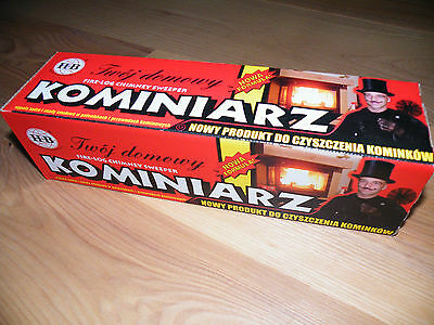 KOMINIARZ - 2x CHIMNEY CLEANING LOG SWEEPER FLUE SOOT and FIREPLACE CLEANER best