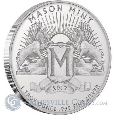 2 - 1 oz .999 Silver Rounds - Mason Mint Heritage Proof-Like Silver Round- New
