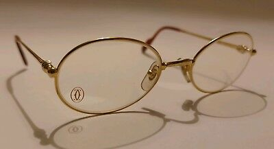 f54b0729964 GENUINE CARTIER GOLD GLASSES NEW VINTAGE 80 s SPECTACLES GUARANTEE CASES  SCREWS