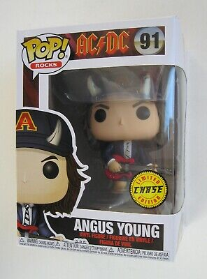 Funko Pop AC/DC Angus Young with HORNS  Limited CHASE Edition w/Pop Protector