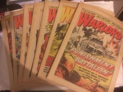 18 X Warlord Issues - 142 -160 Decent Condition For Age - Battle Action 2000Ad