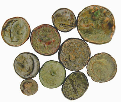 Group of 10 Ancient Greek Bronze Coins (08)