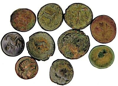 Group of 10 Ancient Greek Bronze Coins (15)