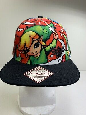 09308cc6f66 The Legend of Zelda The Wind Waker Stained Glass Sublimation Snapback Hat
