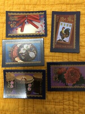 Lunar New Year USPS Magnets Lot Of 5