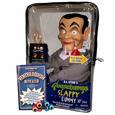 Slappy from Goosebumps Ventriloquist Dummy Doll - Bonus Bundle! - Non Glow Eyes